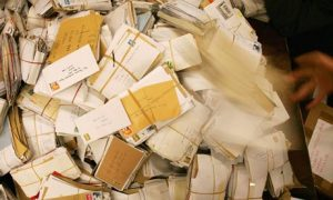Getting tangled in the snail mail